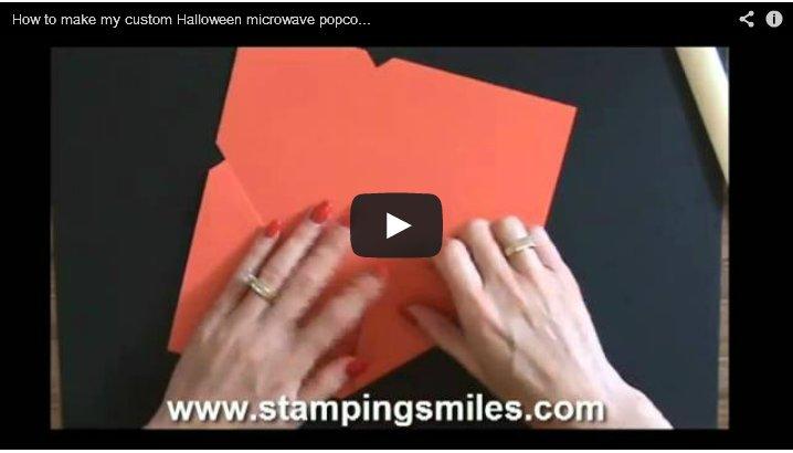 Custom Halloween Popcorn Envelope