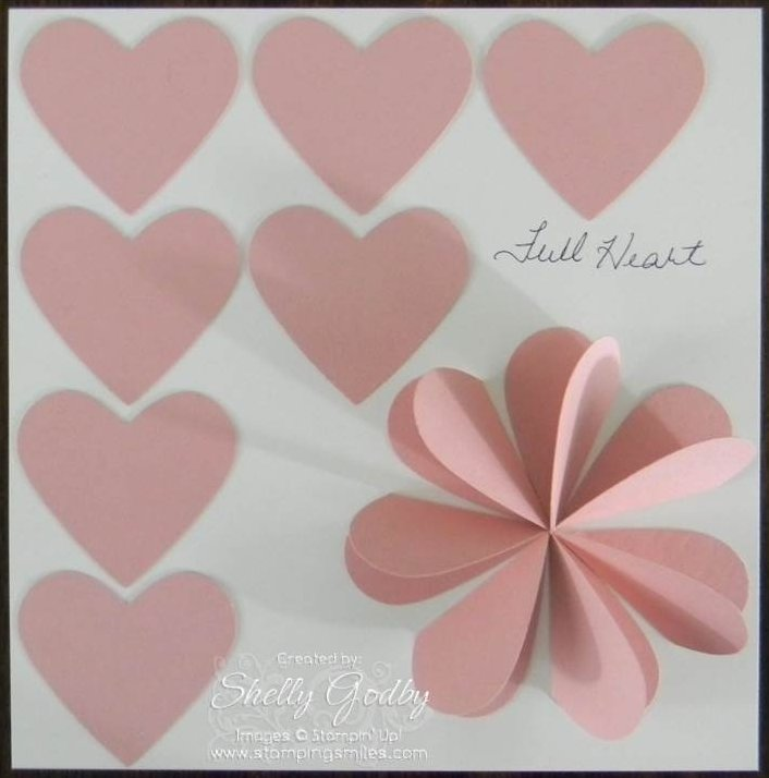 Punch Art Heart Flower Project Sheet
