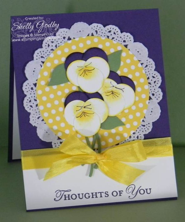 Punch Art Pansy Card