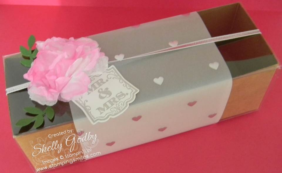 Creped Paper Flower Decorated Box