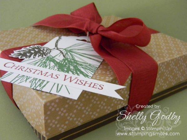 Ornamental Pine Card Box