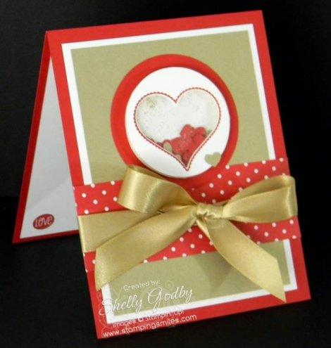 Groovy Love Shaker Card